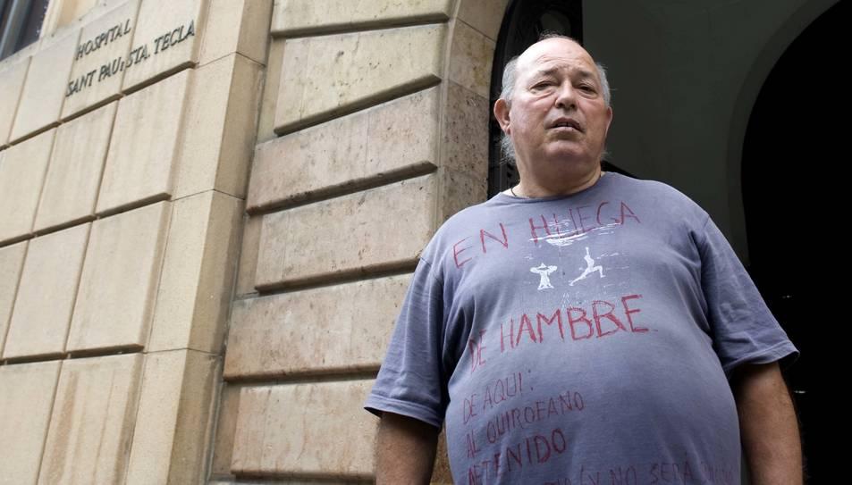 Amaranto Susaño, en una protesta que va protagonitzar el 2013.
