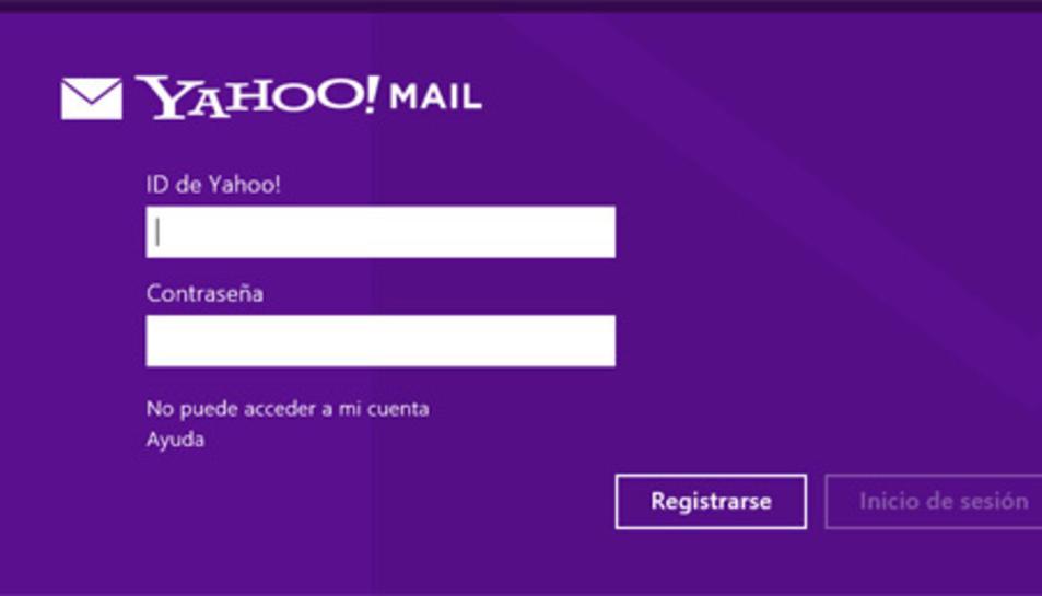 Imatge del correu de Yahoo.