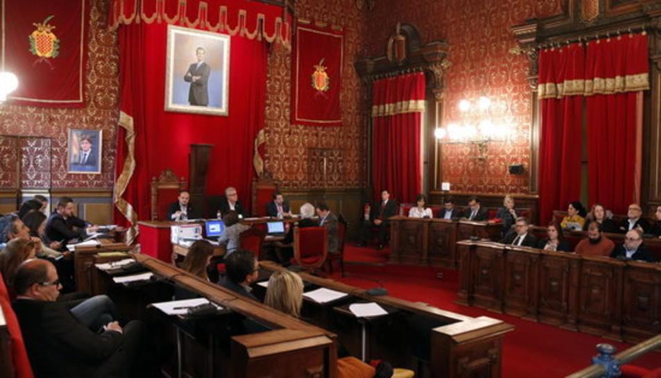 Pla general del ple extraordinari de l'Ajuntament de Tarragona del 28 de novembre de 2016.