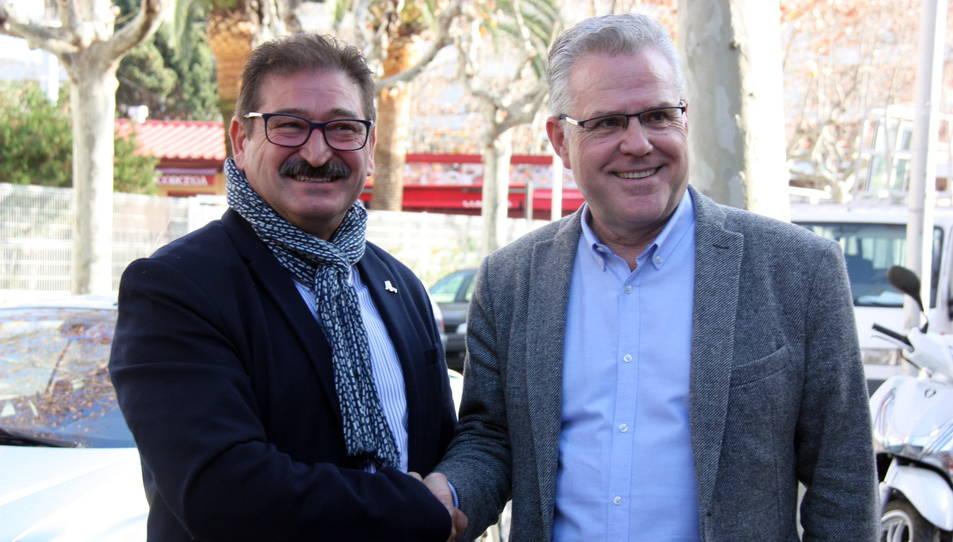 Pere Granados i Antoni Brull en una imatge d'arxiu.
