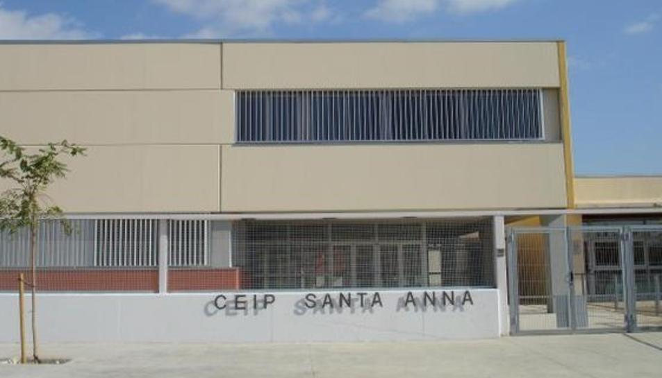 Imatge de l'exterior del CEIP Santa Anna de Castellvell del Camp.