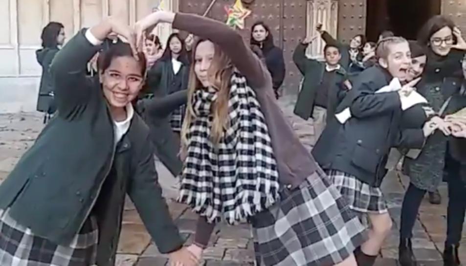 Imatge d'un dels instants del vídeo.