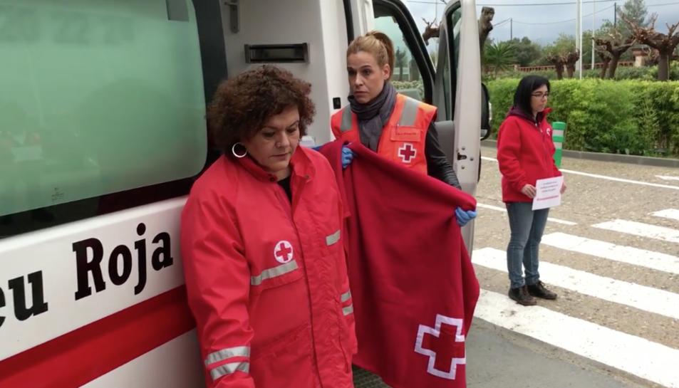 Captura del 'mannequin challenge' realitzar per la Creu Roja de Tarragona.