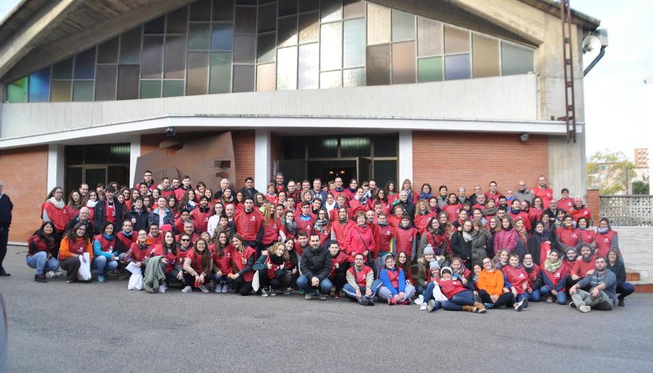 Imatge dels voluntaris que van participar en la
