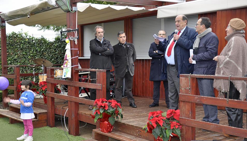 Imatge dels parlaments que es van realitzar en el vermut social de Nadal del Club Tennis Reus Monterols.