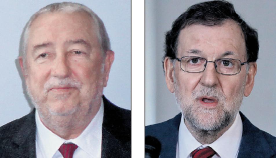 Andreu Suriol, a l'esquerra, i Mariano Rajoy, a la dreta.