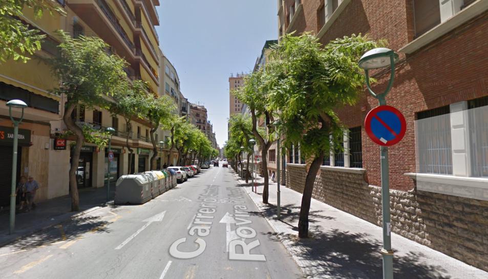 Imatge del carrer Rovira i Virgili de Tarragona.