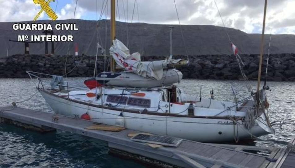 Embarcació en la qual va arribar la menor a les Illes Canàries procedent de Cadis.