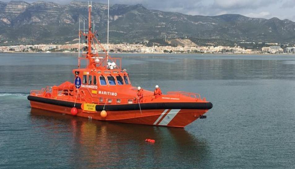 Imatge d'arxiu de l'embarcació de Salvament Marítim de Sant Carles de la Ràpita.