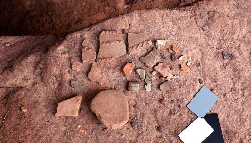 Els dos veïns d'Alforja van descobrir restes de ceràmica al lloc que corroboraria la hipòtesi del santuari.