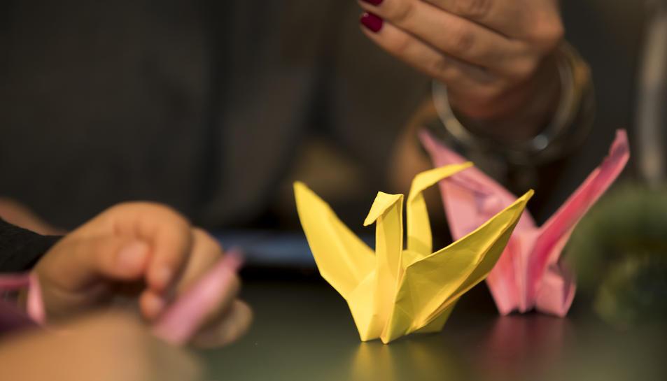 Els origamis són figures de papiroflèxia, un art japonès.