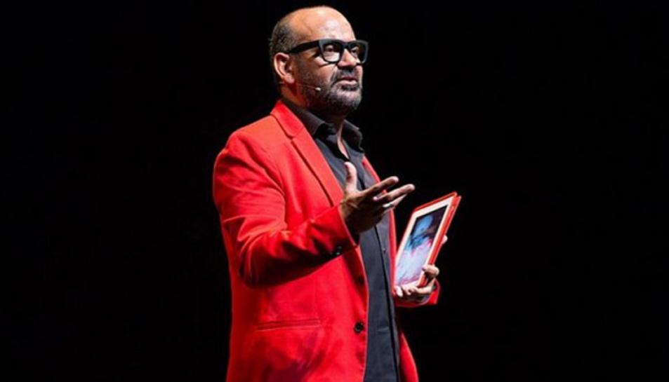 José Corbacho, durant el seu espectacle.