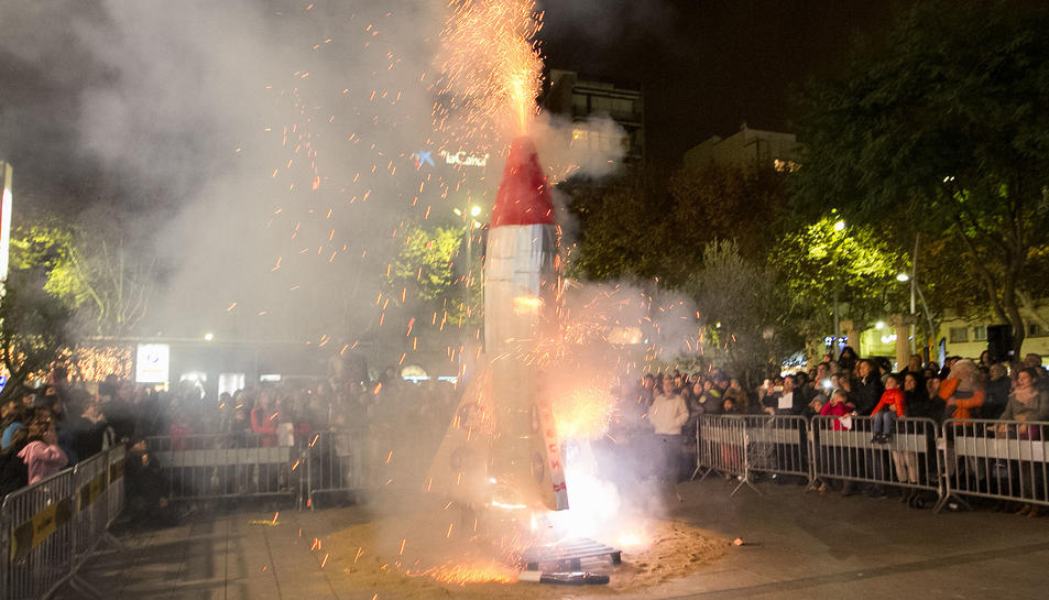 L'espectacle de l'any passat a la plaça de la Llibertat.