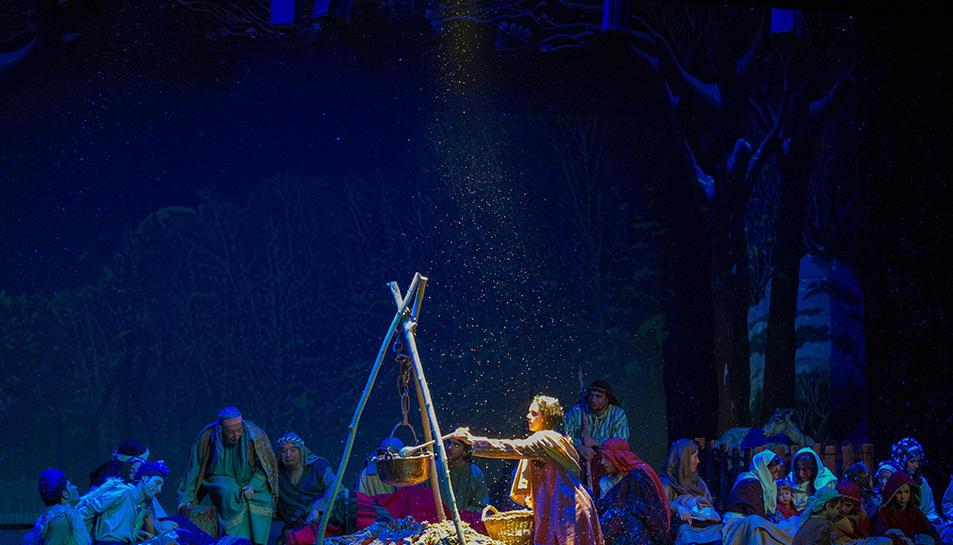 Una de les escenes de la representació dels Pastorets a l'Espluga.