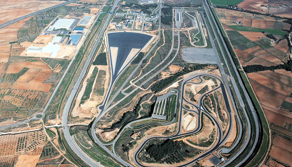 Vista aèria de les instal·lacions d'Applus IDIADA a Santa Oliva.