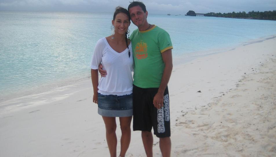 Una de les fotos recuperades de la targeta perduda a la platja Llarga.
