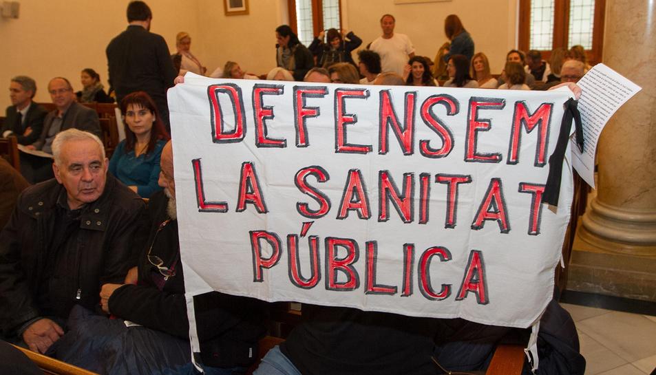 Protestes dels treballadors al Ple de Salut del passat novembre.