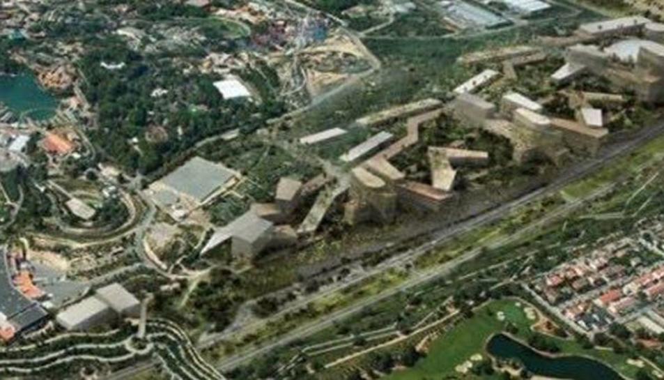 Panoràmica de la zona on s'ubicaria el futur Centre Recreatiu i Turístic de Vila-seca i Salou, al costat de Port Aventura.
