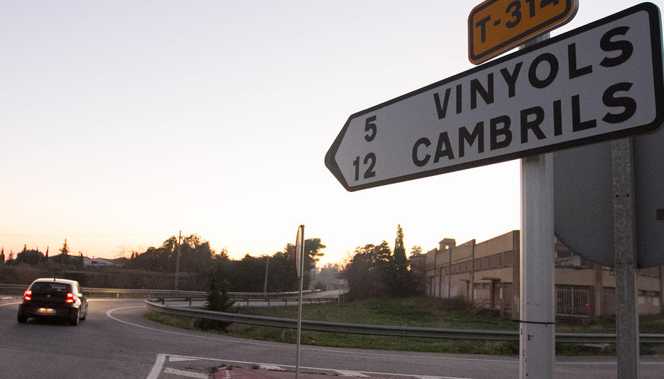 Una imatge de la carretera on es va produir la col·lisió.