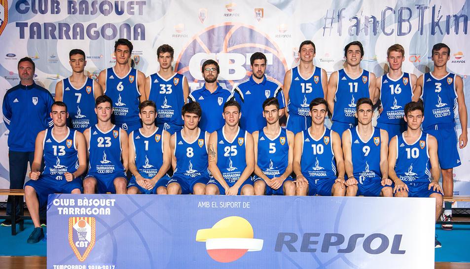 La plantilla de l'equip Junior dels blaus.