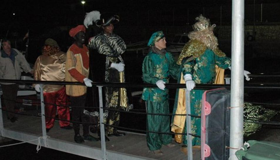 Imatge d'arxiu dels Reis d'Orient arribant a Salou.
