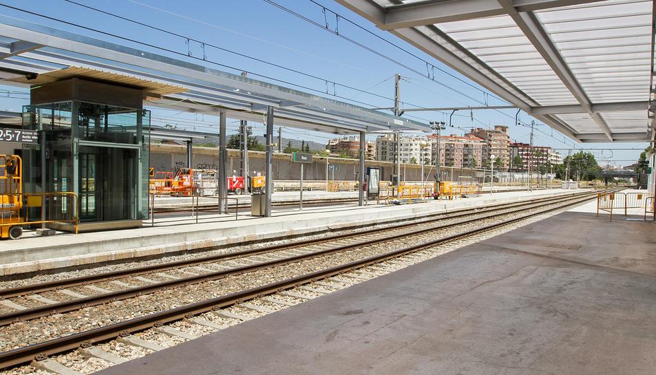 Imatge d'arxiu de les obres realitzades recentment a l'estació de trens de Reus.