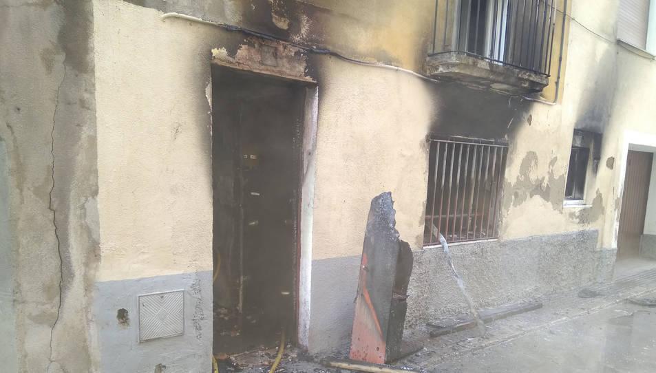 Estat de la casa deshabitada afectada pel foc
