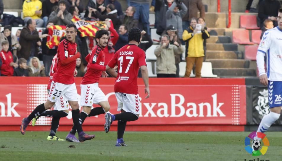 José Carlos, celebrant el gol.