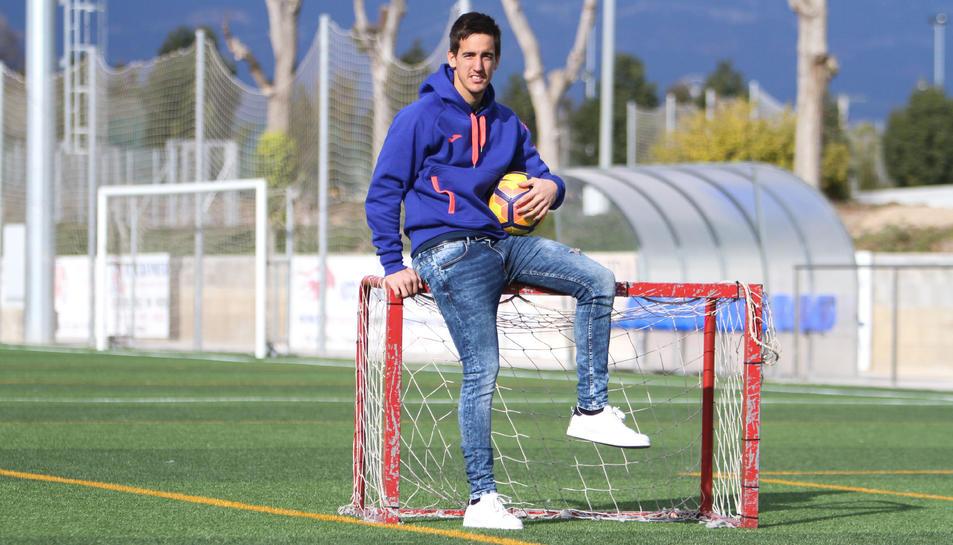 L'arquer del CF Reus Edgar Badia desitja «sumar els 50 punts com abans millor» i «poder gaudir».