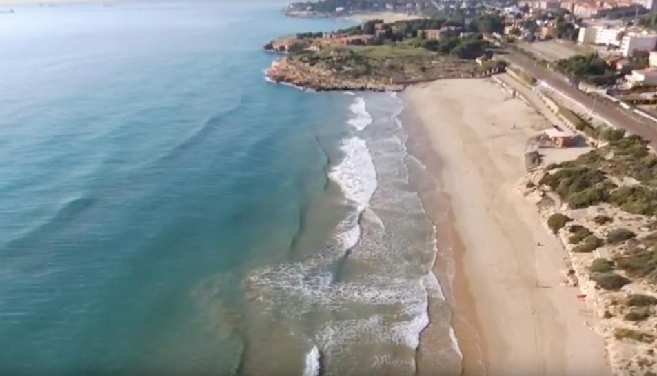 Una de les imatges del vídeo enregistrat amb un dron.