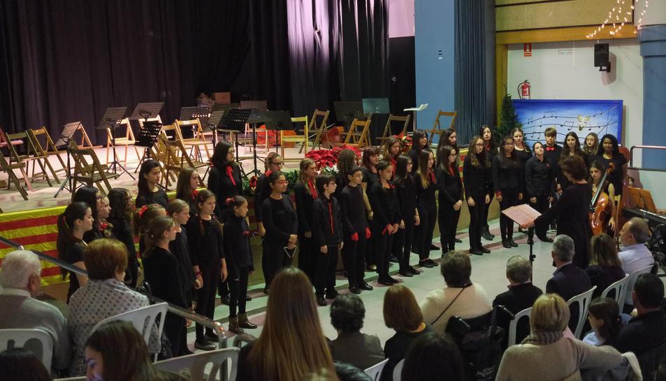 Imatge del concert del Cor Sant Esteve a Perafort.