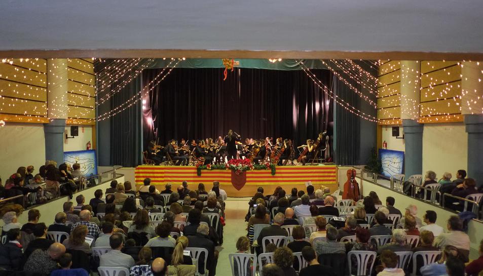 Imatge del concert de l'Orquestra Pirelli a Perafort.