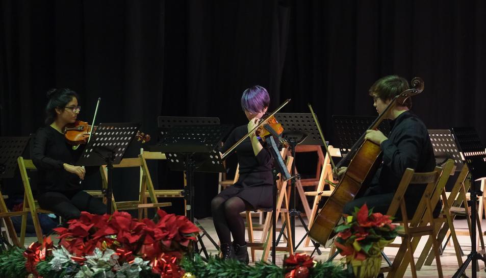 Imatge del concert del Trio de Corda a Perafort.