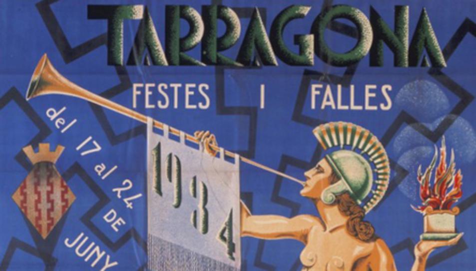 Cartel que anunciaba las Fiestas y Fallas del año 1934.