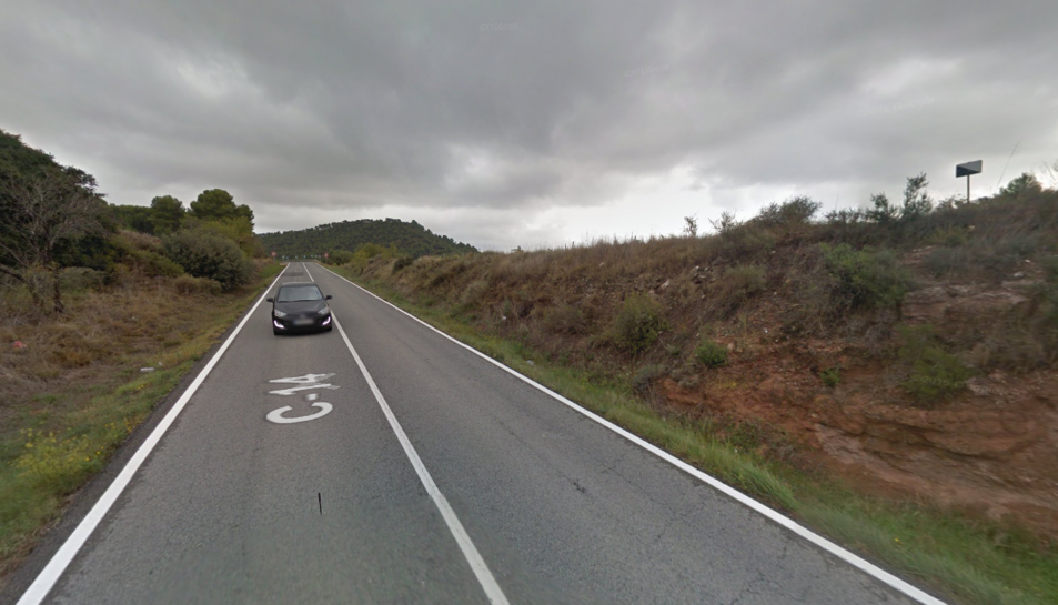L'accident s'ha produït a la C-14 al seu pas per Montblanc.