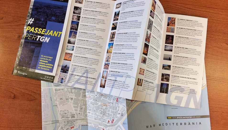 La ruta #PassejantperTGN ja té mapa en paper.