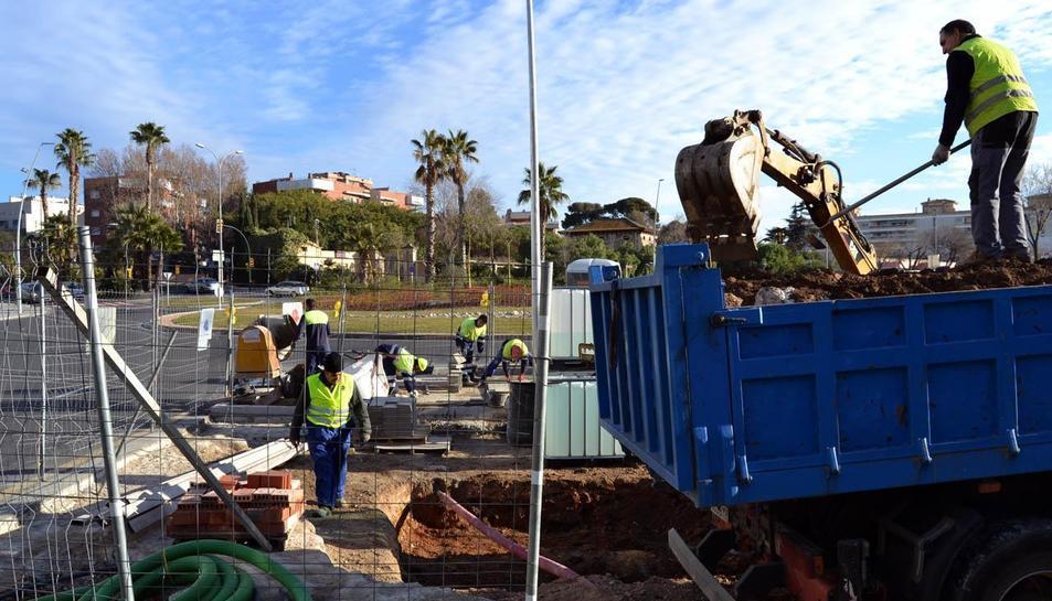 Les obres s'estan duent a terme al voltant de la plaça Pompeu Fabra.