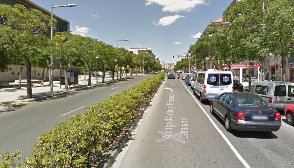 L'avinguda Països Catalans.