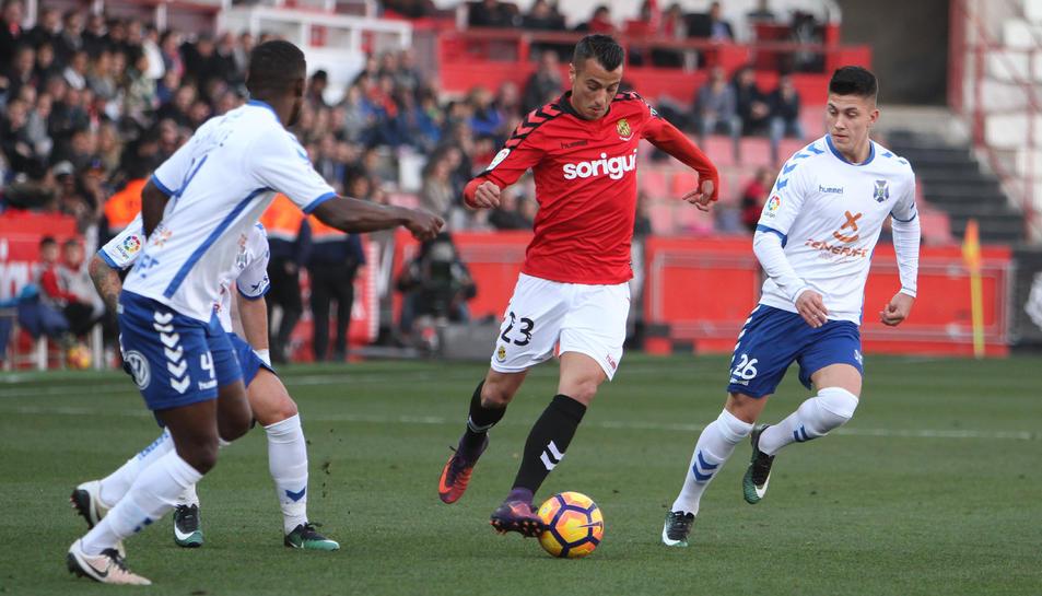 Tejera, durant el partit contra el Tenerife.