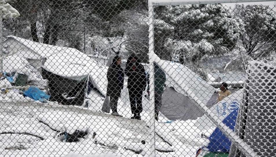 L'objectiu de la campanya és ajudar els refugiats afectats per l'onada de fred.