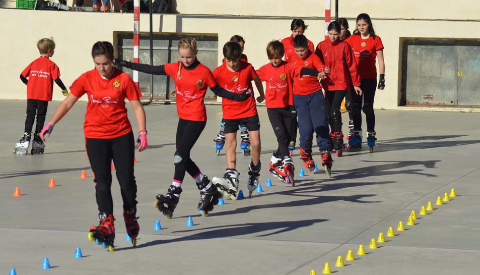 Exhibició de patinatge de la Festa Major de Vila-seca