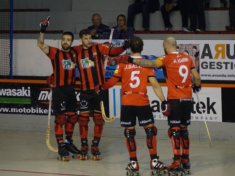 Els reusencs han aconseguit remuntar gràcies a tres gols en els últims cinc minuts.