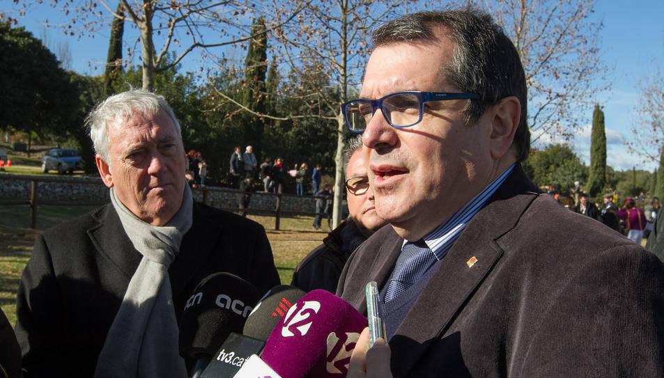 El conseller Jordi Jané ha parlat sobre la troballa dels ossos.