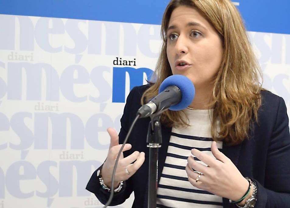 Marta Pascal durant l'entrevista, aquesta divendres a la redacció del Diari Més.
