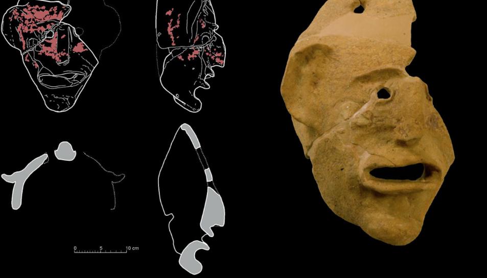 Imatge de la Màscara Grotesca de Mas d'en Gual.