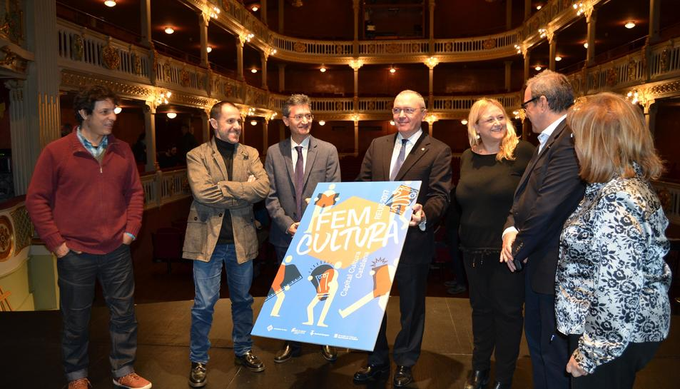 Un moment de la presentació de la programació, aquest dilluns al Teatre Fortuny.