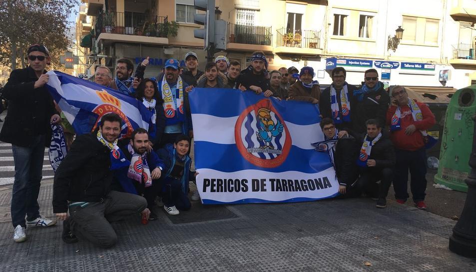 Imatge dels Pericos de Tarragona que van viatjar a València.