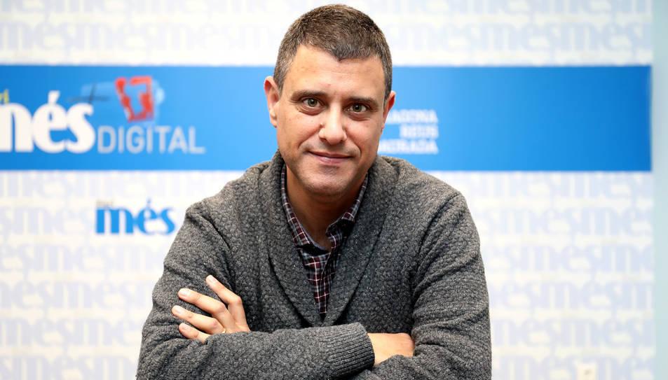 Agustí López, màxim responsable de TDExTarragona, aquest dimecres durant l'entrevista a Diari Més.