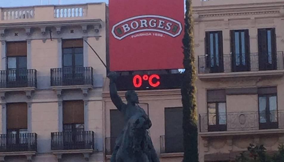 El termòmetre marcava 0º el matí d'aquest dimecres, 18 de gener.