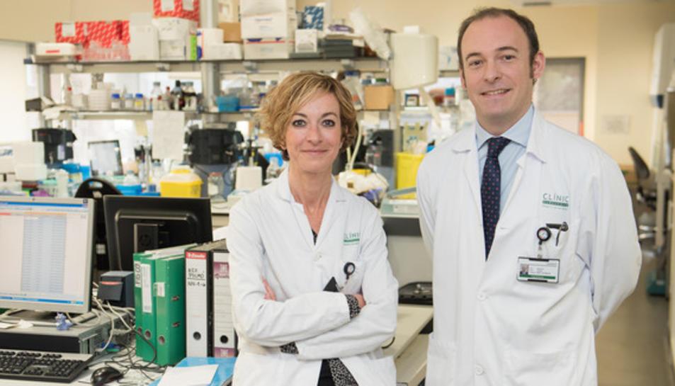 La doctora Noemí Reguart i el doctor Aleix Prat, coordinadors de l'estudi.